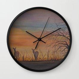Sunset Ridge Wall Clock