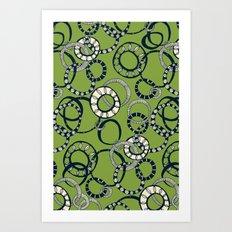 Honolulu hoopla green Art Print