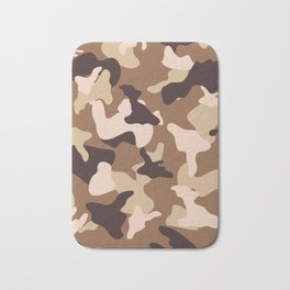 Desert camo sand camouflage army pattern Bath Mat