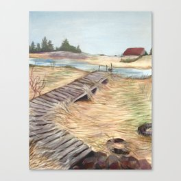 Down by the Water Canvas Print