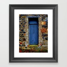 The Blue Door of Ballymascanlon Framed Art Print