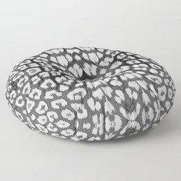 Leopard Print - Grey Floor Pillow
