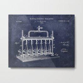 Bottle Filling Machine Patent Metal Print