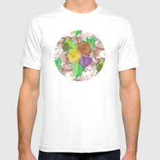 pattern water color  flower MEDIUM White Mens Fitted Tee