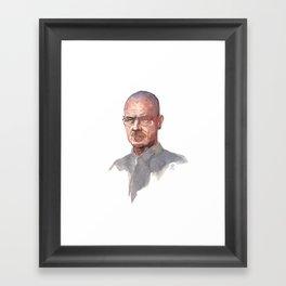 Breaking Bad (Walter White) Framed Art Print