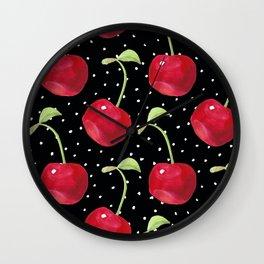 Cherry pattern III Wall Clock