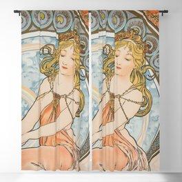 Alphonse Mucha (Alfons Mucha) abst-58 Blackout Curtain