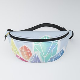 Crystals Blue Fanny Pack