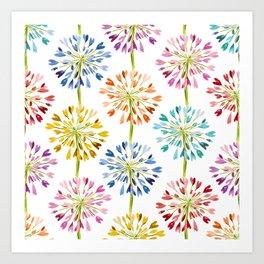 Heart Flower - colorful Art Print