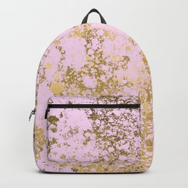 Pale Pink and Gold Patina Design Backpack