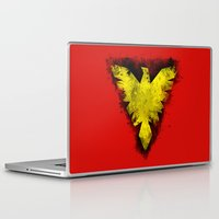x men Laptop & iPad Skins featuring Phoenix - X-Men by Trey Crim