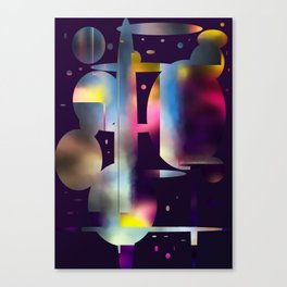 60s Mod Spaceship Abstract Canvas Print