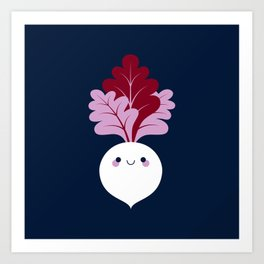 Cute white beetroots Art Print