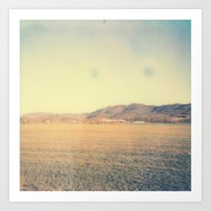 Mountain Range 2 Polaroid Art Print