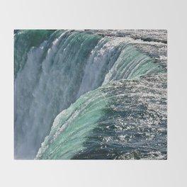 Niagara Falls - Closeup Throw Blanket