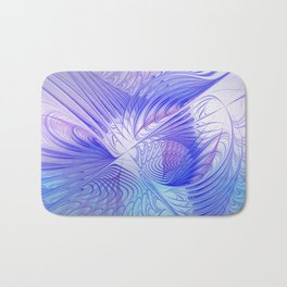 blue and lilac on texture Bath Mat