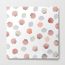 Cute shell pattern Metal Print