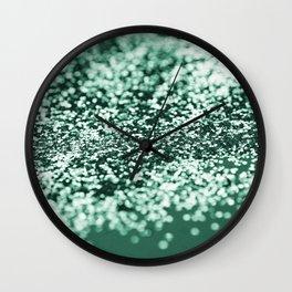 Sparkling EMERALD Green Lady Glitter #2 #shiny #decor #art #society6 Wall Clock