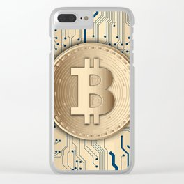 Bitcoin money gold Clear iPhone Case