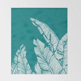 Banana Leaves on Teal #society6 #decor #buyart Throw Blanket