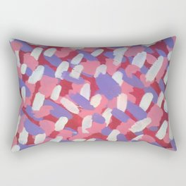 Pink and Purple Brushstrokes Art Rectangular Pillow