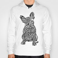 huebucket Hoodies featuring Polynesian  Frenchie by Huebucket