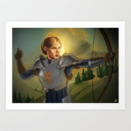 The Queen will conquer Art Print