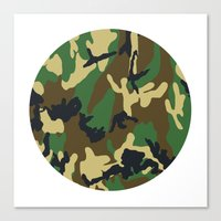 military Canvas Prints featuring Military - Camouflage by Three of the Possessed