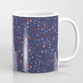 Intricate Dark Moody Floral Pattern Coffee Mug