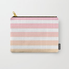Pink yellow white lines Carry-All Pouch