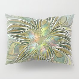 Floral Fantasy, Abstract Fractal Art Pillow Sham
