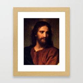 Jesus Christ by Heinrich Hofmann Framed Art Print