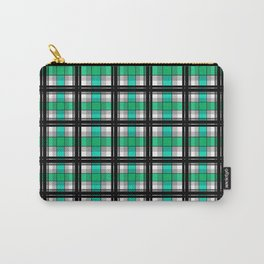 Plaid tartan green Carry-All Pouch
