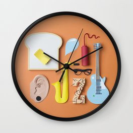 PAPER MINGLE MANGLE Wall Clock