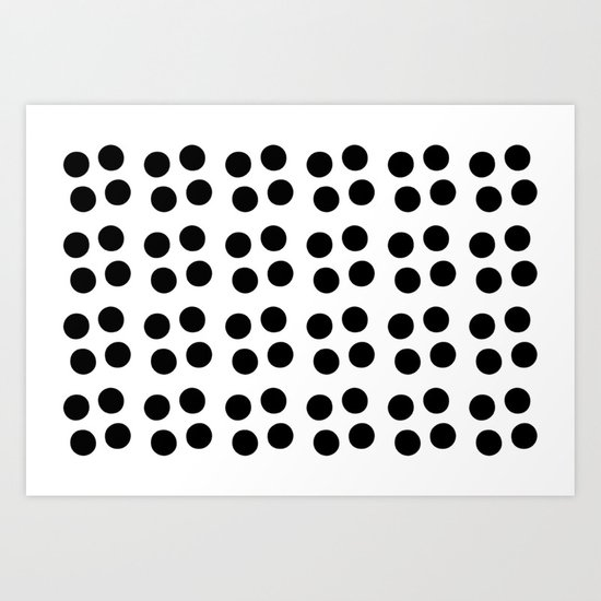 Copijn Black & White Dots Art Print