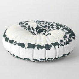 Yin-Yang Cats - FELT Floor Pillow