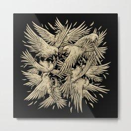 Birdfight Metal Print