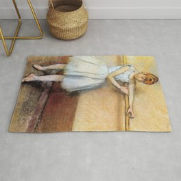 Dancer At The Barre By Edgar Degas | Reproduction | Famous French Painter Rug