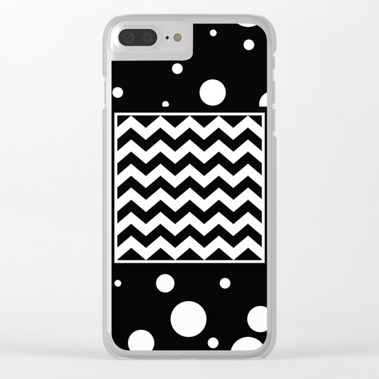 Chevron And Fizz Clear iPhone Case