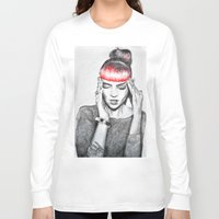 grimes Long Sleeve T-shirts featuring Grimes by Eric Magnussen