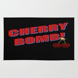 Cherry Bomb: Version 1 Rug