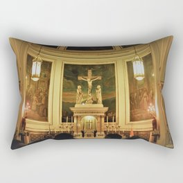 Yellow Church Rectangular Pillow