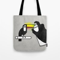 toucan Tote Bags featuring Toucan by martiszu