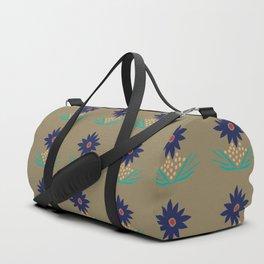 November Born - flower print Duffle Bag