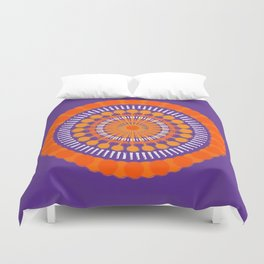 Rough Orange Mandala Duvet Cover