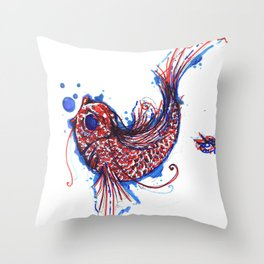 A Coi Fish Throw Pillow
