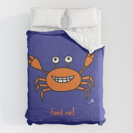 Mr and Mrs Crabby Amanya Design Blue Single FEED ME! Comforters