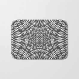 warped bandanna. charcoal Bath Mat