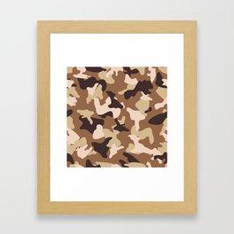 Desert camo sand camouflage army pattern Framed Art Print