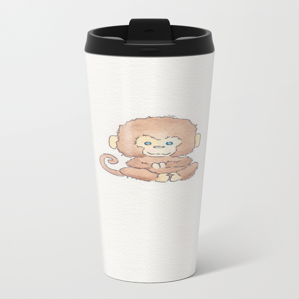 Just Monkeying Around Metal Travel Mug by Thewildflowerfields MTM7844851